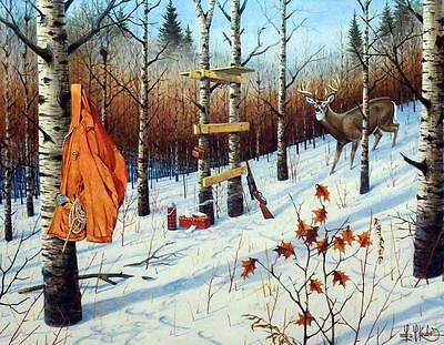 Les Kouba Nature Call's Deer Hunting Signed and Numbered Print