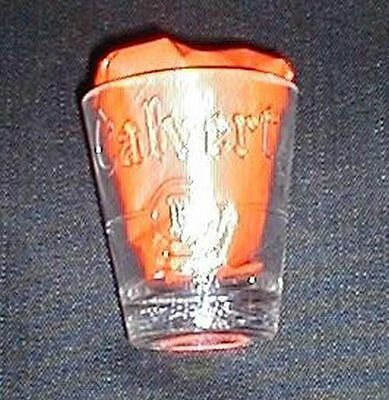 Calvert Reserve Whiskey B Shotglass! Mint Embossed Barware! Free Shipping!
