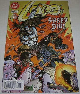 LOBO #55 (DC Comics 1998) SHEEP DIP! Alan Grant (VF-) RARE!