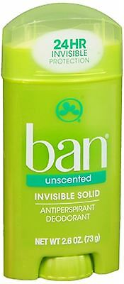 Ban Anti-Perspirant Deodorant Invisible Solid Unscented 2.60 oz (Pack of 3)