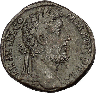 COMMODUS 183AD Sestertius Big Ancient Roman Coin Felicitas Good luck Cult i53022