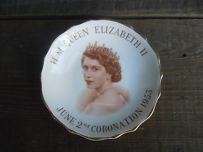 vintage H.M. QUEEN ELIZABETH II Coronation June 2nd 1953 Plate Made in England