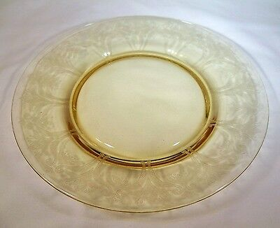 "MORGANTOWN FAIRWIN ETCH 14K TOPAZ 7-5/8"" DIAMETER SALAD or DESSERT PLATE!"