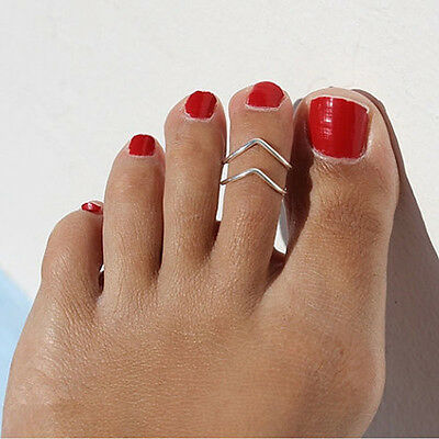 Perfect Celebrity Women Stylish Simple Toe Ring Adjustable Foot Beach Jewelry
