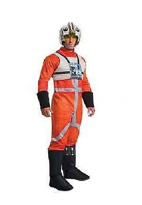 X-WING FIGHTER DELUXE ADULT COSTUME Men Star Wars Cosplay Fancy Dress 810800 NEW