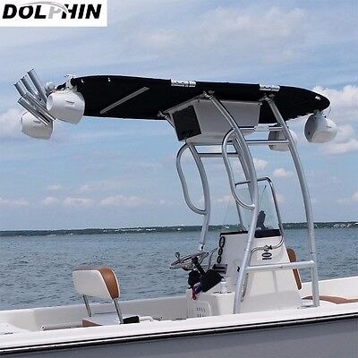 Dolphin Pro2 Center Console Boat T Top | Black Canopy | Boat T-TOP
