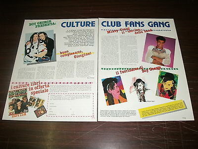 Clipping ritaglio luglio 1984 - BOY GEORGE presenta: CULTURE CLUB FANS GANG