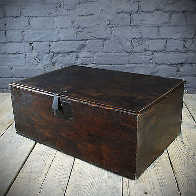 Early 18th C Oak Bible Box with Antique fittings and Candle Drawer (£380 Ex VAT)