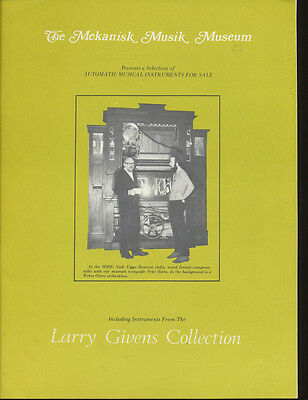 The Mekanisk Musik Museum Review & Catalog - Givens Collection - 1973 - 51 pp