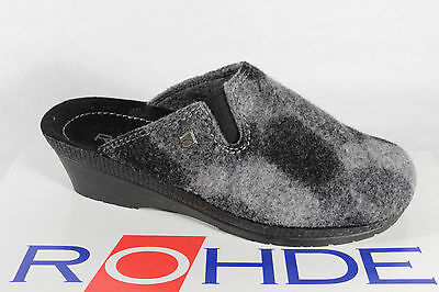 Details about Rieker Ladies Slippers, Felt Fabric, Softfilzinnensohle, Grey 46300 New