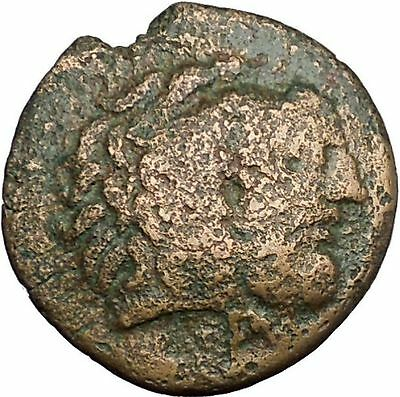 AKARNANIAN LEAGUE Man-Headed Bull River-God Archelous Hercules Greek Coin i52756