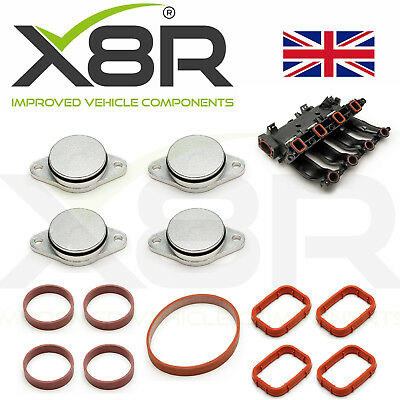 4X 33Mm For Bmw Diesel Swirl Flap Blanks Repair With Intake Manifold Gaskets