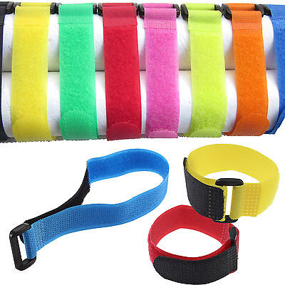 5PCS Hook Loop Tape Strap Self Adhesive for Lipo Battery 15 x 2cm NEWLY
