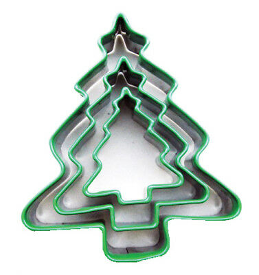 Eddingtons Christmas Tree Cookie Cutters - Set of 3 - Pastry/Biscuit Cutters