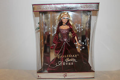 2004 Holiday Barbie Burgundy Dress, Special Edition, Open Box