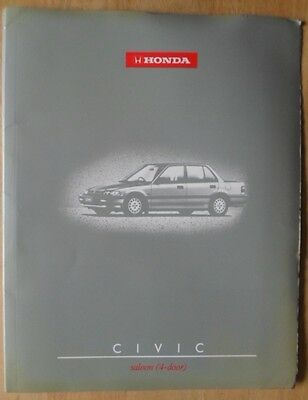 HONDA CIVIC 4 DOOR orig 1990 UK Mkt Press Pack / Kit Brochure