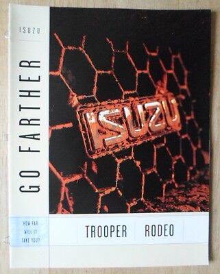 ISUZU RODEO & TROOPER orig 2000-01 Canadian Mkt Sales Brochure