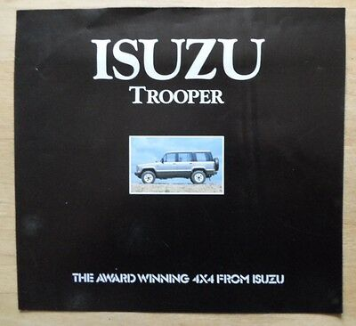 ISUZU TROOPER 4X4 orig 1994 UK Mkt Large Format Sales Brochure