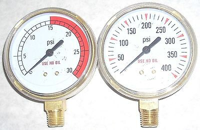 "Welding Cutting Acetylene Fuel Regulator Replacement Gauges Set 2 1/2"" Dia 1/4"""