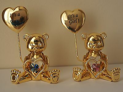 New Baby - Crystal Temptations - 24K Gold Plated Teddy With Swarovski Components