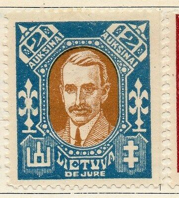 Lithuania 1922 Early Issue Fine Mint Hinged 2a.