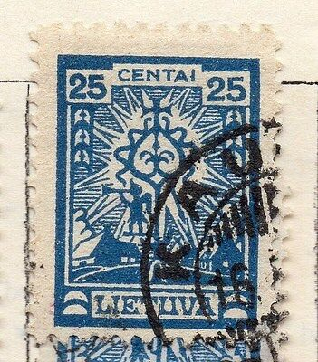 Lithuania 1923 Early Issue Fine Used 25c.