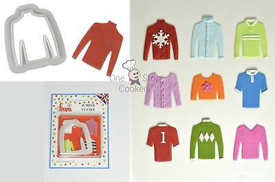 FMM Christmas JUMPER Sweater Fondant Cutter Rugby or Football Shirt FREE P&P