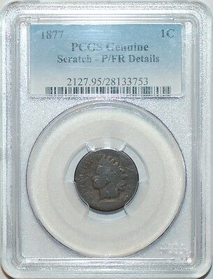1877 PCGS P/FR Details Indian Head Cent Penny