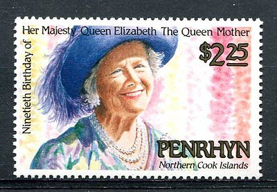 Penrhyn Is 1990 Queen Mother  MNH