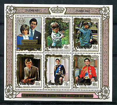 Penrhyn Island 1982 Birth of Prince William of Wales MS Type 2  MNH