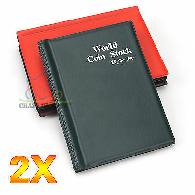 2x 120 Coin Holder Collecting Collection Storage Money Pocket Penny Album Book