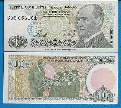 Turkey P-193 10 Lire 1993 Uncircullated FREE SHIPPING