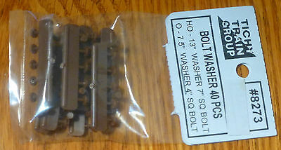 Tichy HO//O Scale Bolt Washer 40 pieces Rust Color #8273 Bob The Train Guy