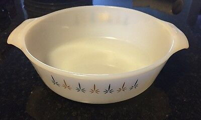 Anchor Hocking Fire King Candle Glow 1 1/2 Qt Casserole Round Dish 437