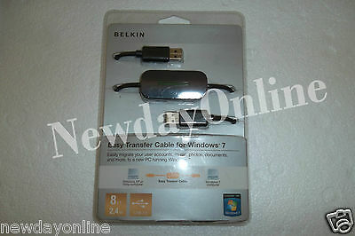 Belkin Easy Transfer USB Cable Windows Vista To 7 F5U279 8830 01645 NEW