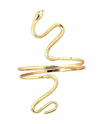 SNAKE Armband ASP Greek Roman Egyptian GODDESS gold Metal Costume Jewelry