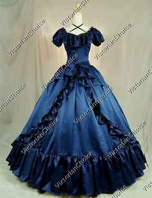 Victorian Old West Princess Prom Dress Gown Theatre Reenactment Clothing 206