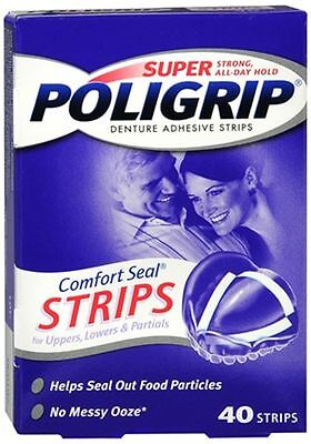 SUPER POLIGRIP Comfort Seal Strips 40 Each (Pack of 4)