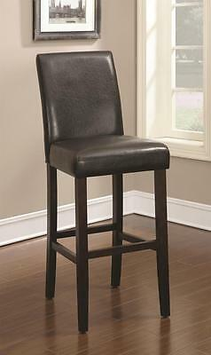 """Dark Brown 9"""" Seat Height Parson Bar Stool Chair by Coaster 130060 - Set of 2"""