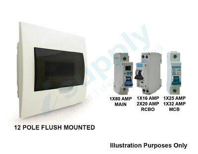 12 Way Pole Flush Distribution Board Switchboard Safety Switch Rcd Main Switch