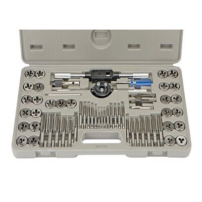 60 Piece Alloy Steel SAE & Metric Tap and Die Set Case Incl! Lifetime Warranty