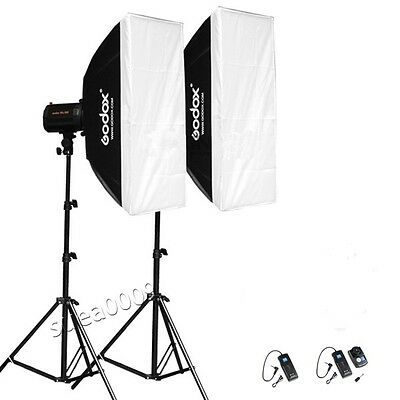 GODOX 320ws 2*160 Photography pro Studio Strobe Photo Flash light stand Trigger