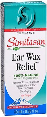 Similasan Ear Wax Relief Ear Drops 10 mL (Pack of 4)