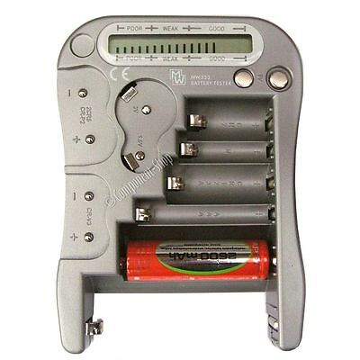 Universal battery tester AAA/AA/C/D/PP3/CR/buttons etc