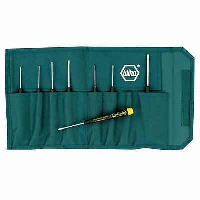 Wiha 27399 Screwdriver Set, Slotted And Phillips ESD Precision, 8 Piece