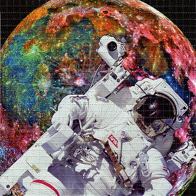 ASTRONAUT  - perforated sheet BLOTTER ART psychedelic acid free paper