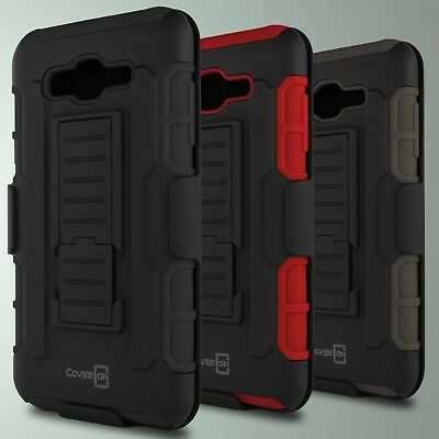 CoverON® for Samsung Galaxy J7 Holster Case Hybrid Kickstand Cover + Belt Clip