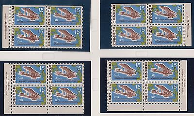 Canada #494 Mint Plate Block Matched Set Vf Nh