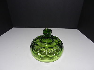 """LE Smith Moon & Stars Covered Butter or Cheese Lid Only Green 6"""" D"""