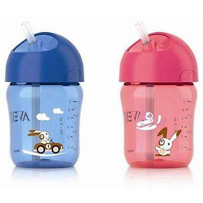 Avent - Straw Cup - 12m+ 260ml - CHOOSE COLOUR - Brand New Baby Bottle